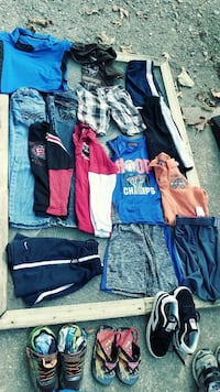 Boys shoes clothes and jacket