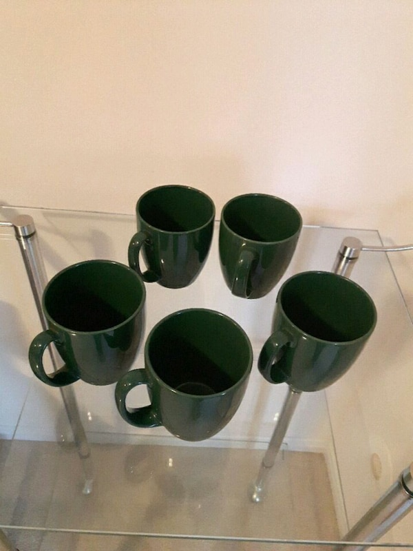 Corelle mugs green set