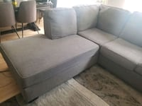 grey sectional couch  Mississauga