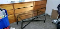 brown wooden bed frame with drawer St. Louis, 63123