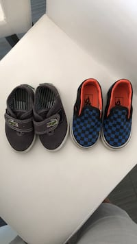 2 pairs toddler size 5c shoes (vans and Lacoste) Delta, V4C 4J2