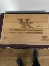 floor from 2012 NCAA championship, Signed by John Calipari.