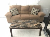 Couch and coffee table! Tan/light brown Severn, 21144