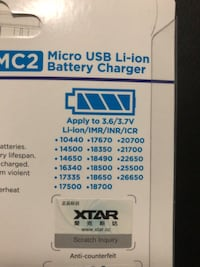 Micro USB li-ion Battery Charger