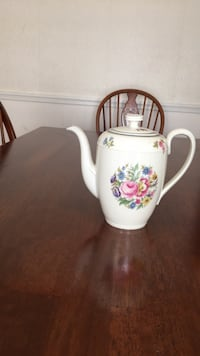 white and pink floral ceramic teapot Temple Hills, 20748