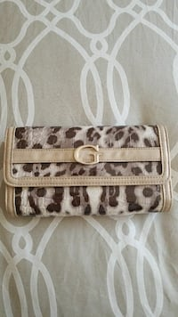 Guess cheetah print wallet