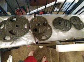 Metal weights total 85lbs