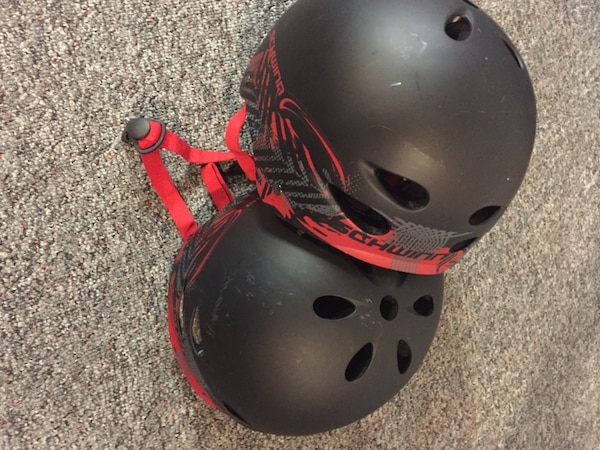Roller blades and helmets
