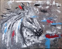 """""""Horse"""" (acrylic painting on canvas 70*90)"""