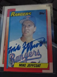 Autographed Mike Jeffcoat Irving, 75061