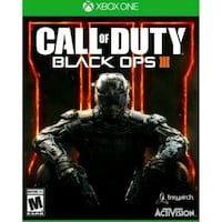 Call of Duty Black Ops 3 Xbox One game case Los Angeles, 91405
