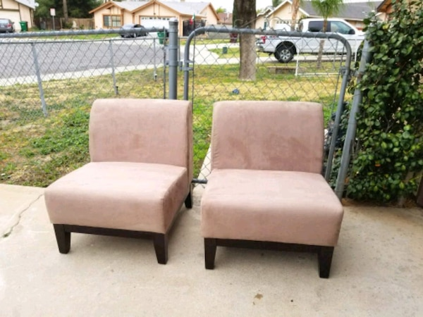 2 Brand New wide Accent sofa Chairs tan color