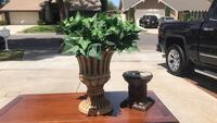 two green and brown ceramic vases Anaheim, 92806