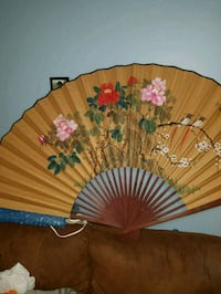 Decorative Chinese wall fan, antique.