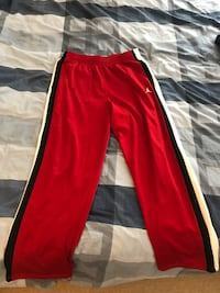 Jordan Red Sweatpants/ Black & White Stripes (XL) Toronto, M4Y 1R9