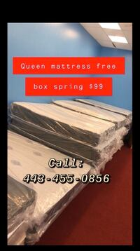Queen mattress and box spring  Baltimore, 21231
