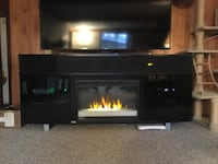 Black wooden tv stand with fireplace Lakeside, 97449