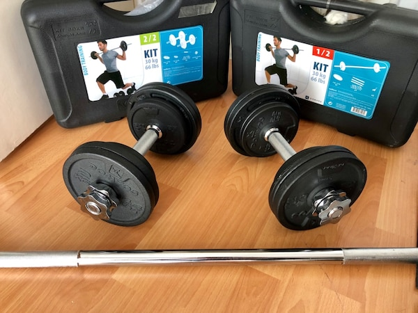 9e7d5250f Used 30 kg Ağırlık dumble bar seti Decathlon Domyos for sale in ...