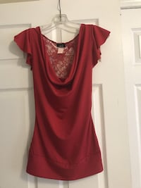 Red Back Laced Top - From Rue21 - Size Small Toronto