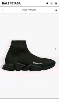 BRAND NEW BLANCIAGA SPEED TRAINERS ALL BLACK  Toronto