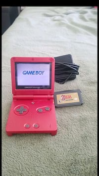 red Nintendo Game Boy Advance SP with game cartrid Vacaville, 95687