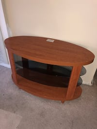 brown wooden 2-layer TV stand Washington, 20005