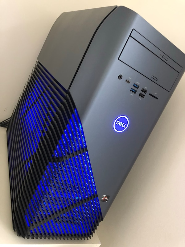 Dell Inspiron 5675 gaming desktop computer with 8gb graphics card rx580  ryzen 7