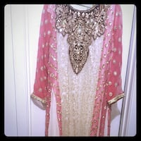 Pakistani pink and white shalwar kameez Washington