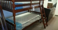 Twin size wooden bunk bed without mattesses Silver Spring, 20902