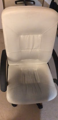 white leather padded rolling armchair Eugene, 97401
