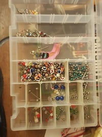 Tongue rings and belly button rings. 3 each Huntsville, 35816