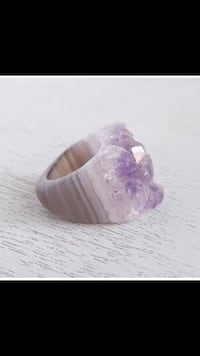 Purple and white Amethyst Ring Edmonton, T6A