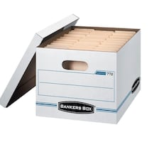 25 pack storage file boxes
