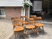 Solid Maple Lowback Chairs (6 in total) Deseronto, K0K