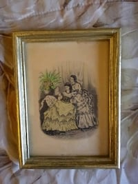 Antique Print in Picture Frame