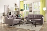 Brand New 2pc. Grey Sofa and Love Seat Austin