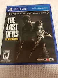 The Last of Us PS4 game case