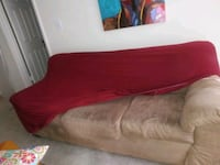 Sleeping sofa and loveseat with cover red cover Smyrna, 30080
