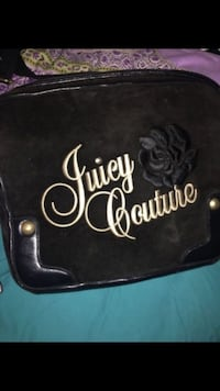 black and white Juicy Couture floral bag