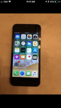 Space gray iphone 5 with case Edmonton, T6C 2B8