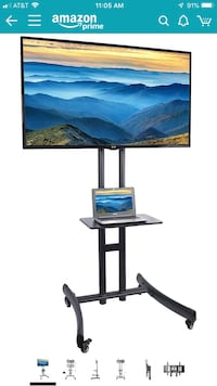"""VIVO TV Cart for LCD LED Plasma Flat Panel Stand Mount w/Mobile Wheels fits 30"""" to 70"""" Screens (STAND-TV06C) Sacramento, 95823"""