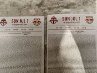two white and black tickets Mississauga, L5N 7T3