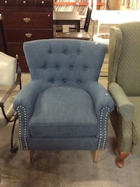 Blue Fabric Armchair at the HFH ReStore  Hamilton, L8H 7P4