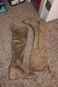a.n.a beige suede knee high heels size: 9.5 Oklahoma City, 73013