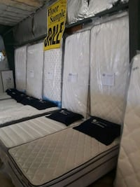 white and black bed mattress Raleigh, 27604