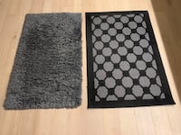 Rugs x 2 $25 for both Like New grey and black Vancouver, V5Z