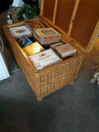 Wicker Chest 50 + Cigar boxes