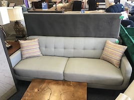 New Tifton Mid-Century Modern Grey Sofa