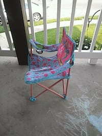 baby's blue and red swing chair Brookhaven, 19015