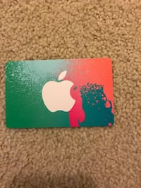 green and pink iTunes gift card Triangle